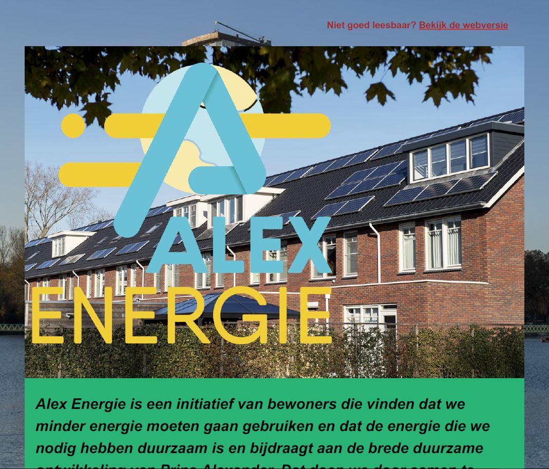 Alex Energie, Nieuwsbrief juni 2020, nieuws, duurzame energie, Rotterdam Prins Alexander