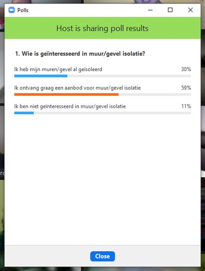 Rotterdam Prins Alexander Ommoord, Eerst Energieavond - Vervolg - polls