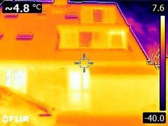 AE warmtescan warmtebeeldcamera infrarood isolatie buiten gevel